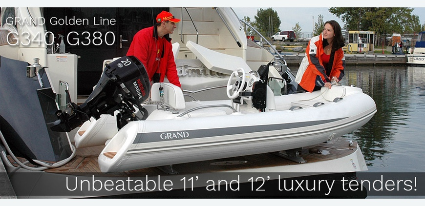 GRAND G340 and G380 Unbeatable luxury RIB tenders